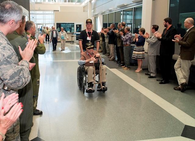 WWII Veterans touched by the big welcome in their honor