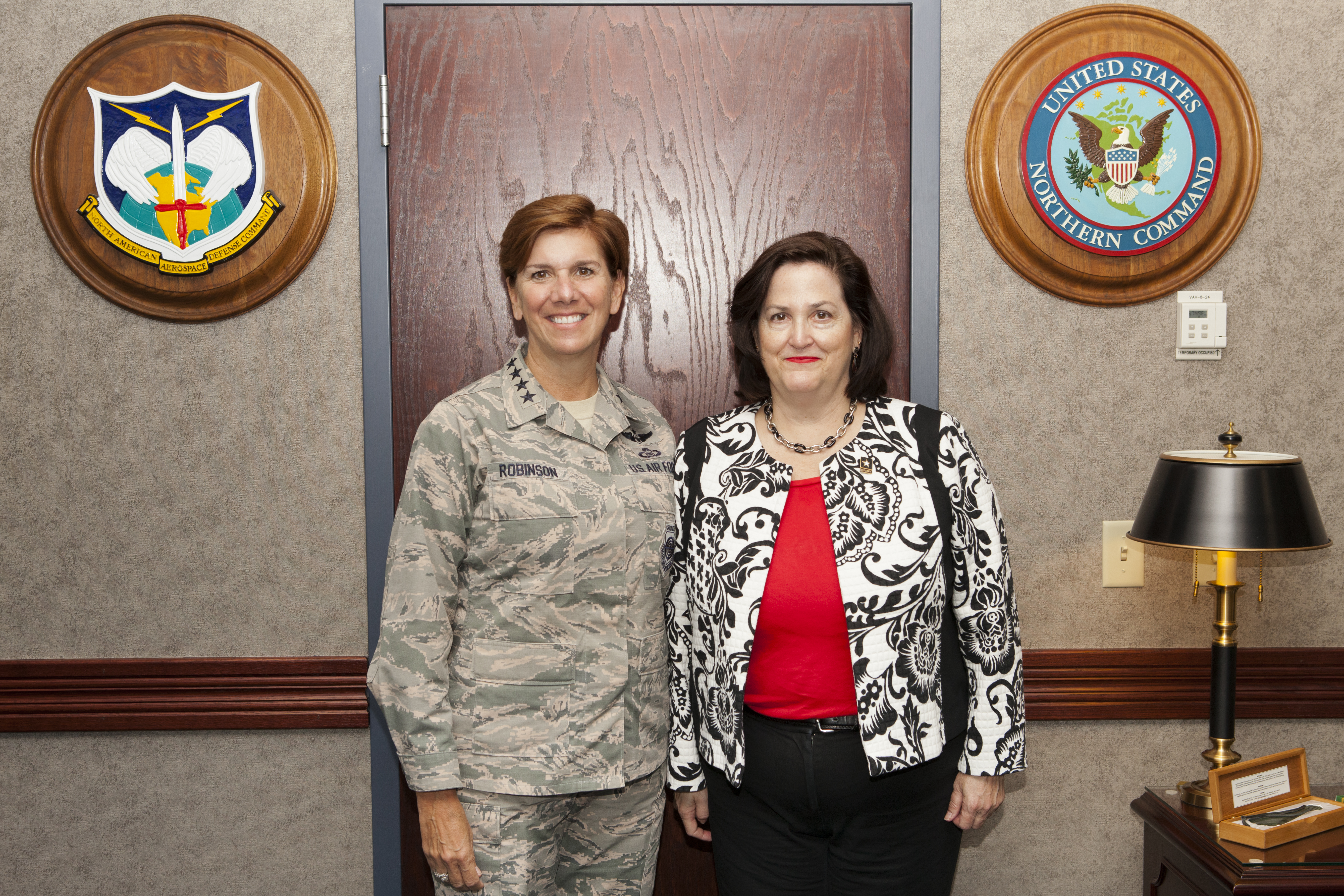 Gen. Lori Robinson with The Honorable Katherine Hammack